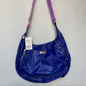 ZUMBA Fitness NWT Peek-a-Boo Blue Crossbody Bag